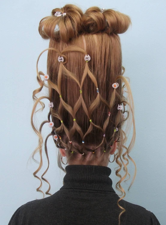 Прически на длинные волосы для конкурса причесок
